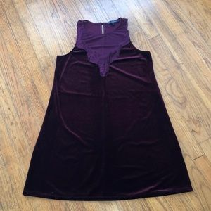 Gorgeous plum velvet/lace swing dress